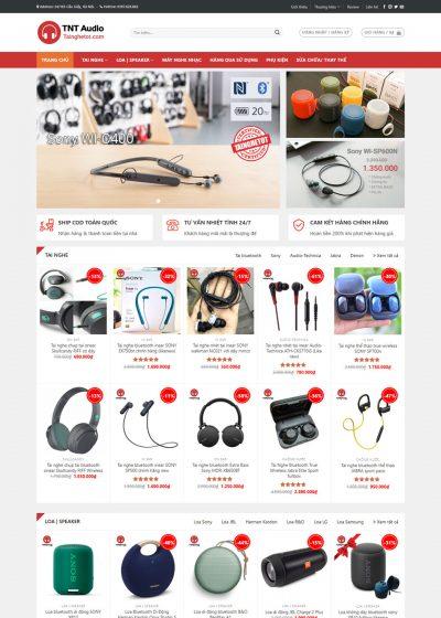 Thiết kế web bán tai nghe và các thiết bị âm thanh (website: tainghetot.com)