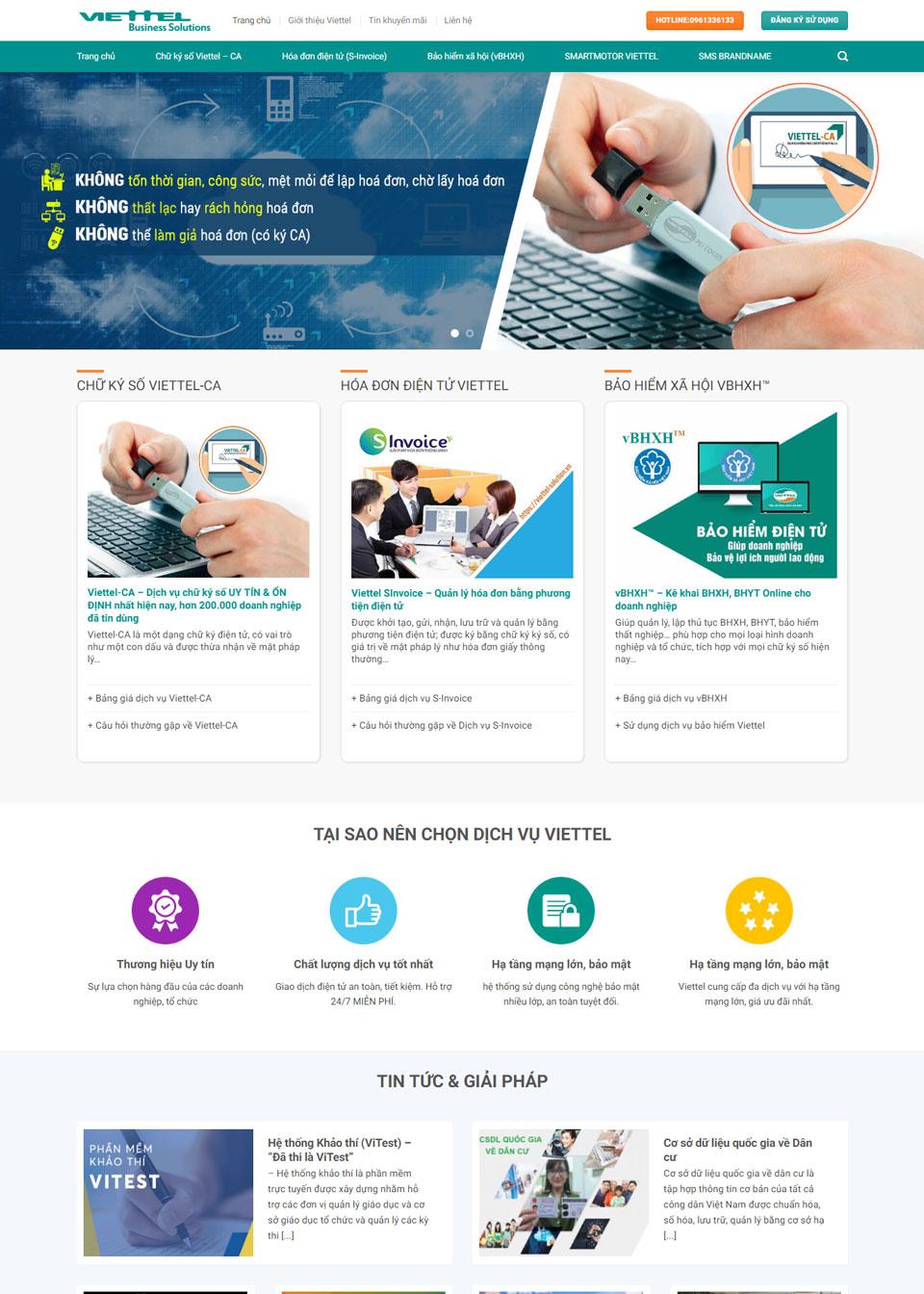 Website Viettel-solution.vn