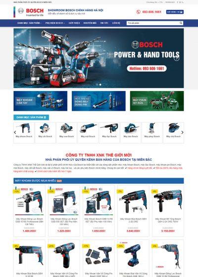 Thiết kế website bán dụng cụ điện cầm tay bosch